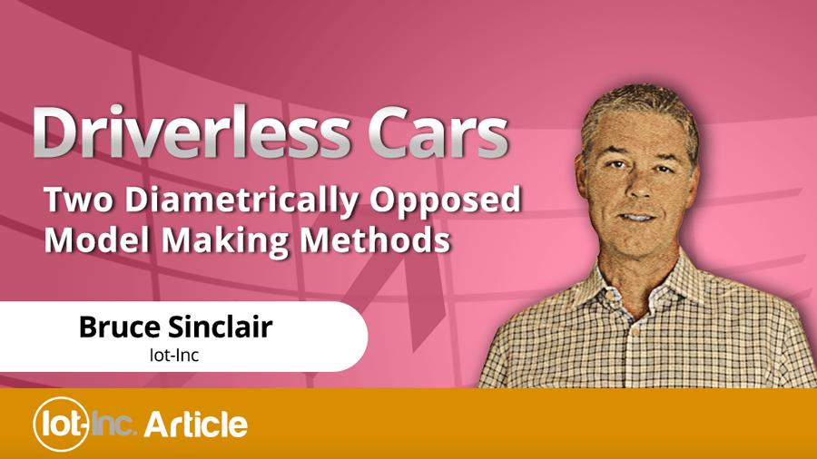 driverless cars two diametrically opposed model making methods image