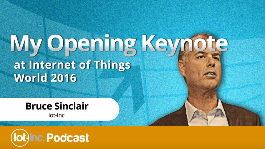 my opening keynote at internet of things world 2016 image