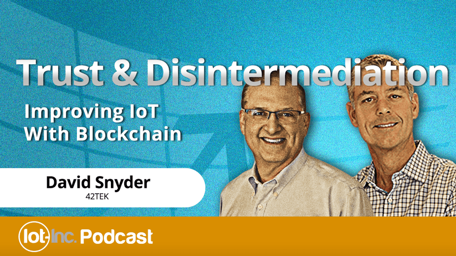 trust & disintermediation improving iot with blockchain image